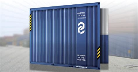 [Free PSD] Shipping Container Folder Design Template