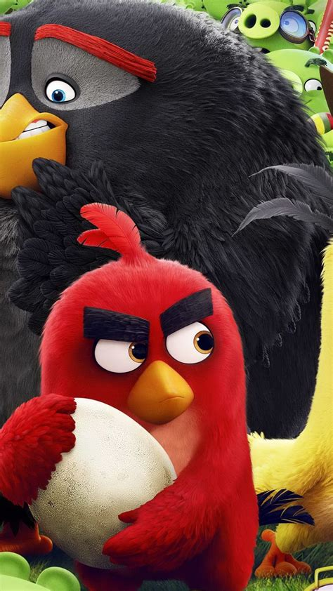 Wallpaper Angry Birds Movie, chuck, red, bomb, Best
