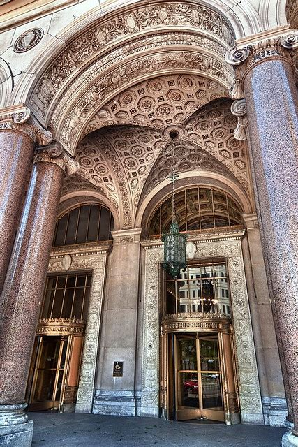 Entry to General Motors Building / Cadillac Place   Flickr