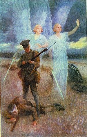 WW1 Picture 49 - Painting depicting the Angels of Mons