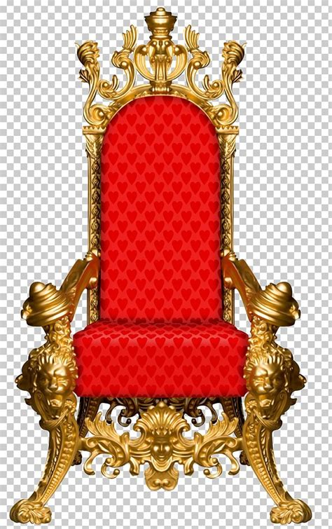 Throne Chair Red Gold Furniture PNG, Clipart, Alice, Alice